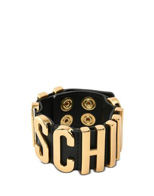 Moschino Leather Bracelet In Blue