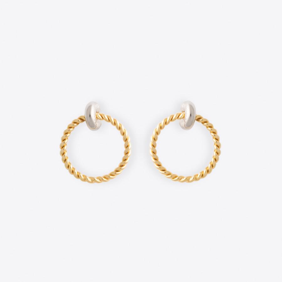BALENCIAGA Twisted Hoop Earrings Earring Woman f