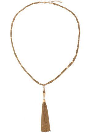 KENNETH JAY LANE Tasseled gold-tone necklace