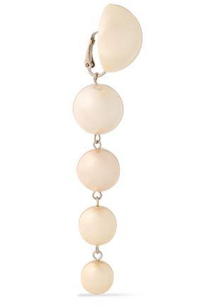 BEN-AMUN Silver-tone faux-pearl clip earrings