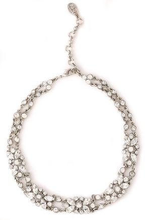 BEN-AMUN Silver-tone crystal necklace