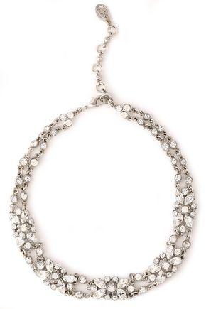 BEN-AMUN Silver-tone crystal necklace