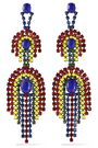 ELIZABETH COLE Gunmetal-tone, crystal and stone earrings