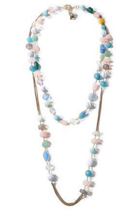 ROSANTICA Gold-tone multi-stone necklace