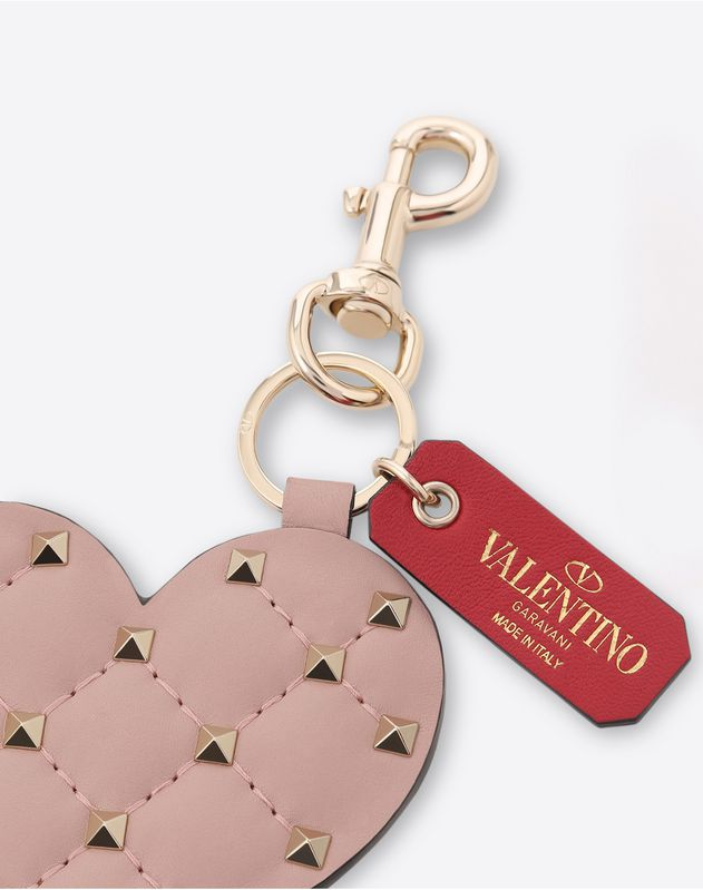 Rockstud Spike Heart Key Ring