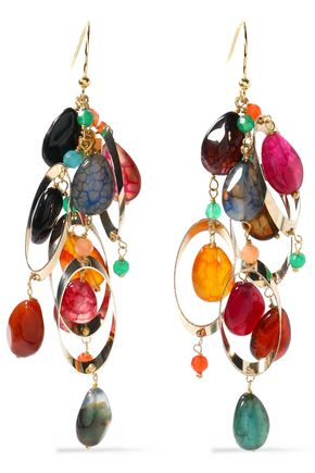 ROSANTICA Gold-tone multi-stone earrings