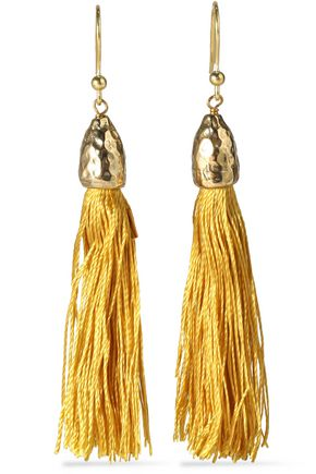 ROSANTICA Gold-tone cord tassel earrings