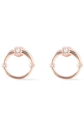 CARBON & HYDE Dharma 14-karat rose gold diamond earrings