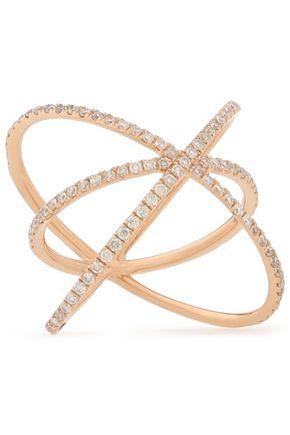 CARBON & HYDE 14-karat rose gold diamond ring