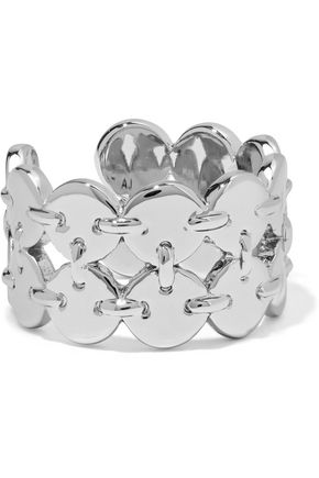 WOMAN DOUBLE DISCO FEVER SILVER-TONE RING SILVER