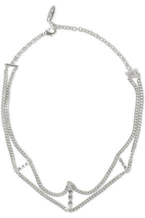 LUV AJ Triple Posie silver-tone crystal choker