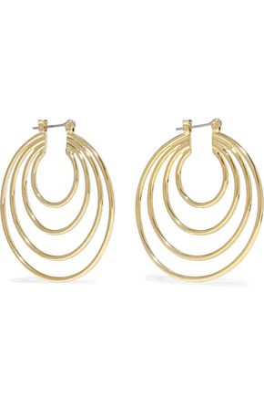 LUV AJ Gold-tone hoop earrings
