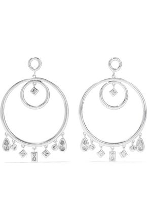 LUV AJ The Hanging Stone silver-tone crystal earrings