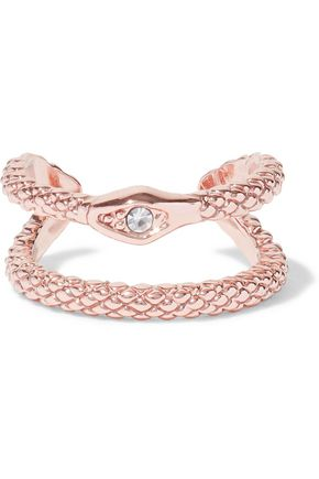 LUV AJ Serpent rose gold-tone crystal ear cuff