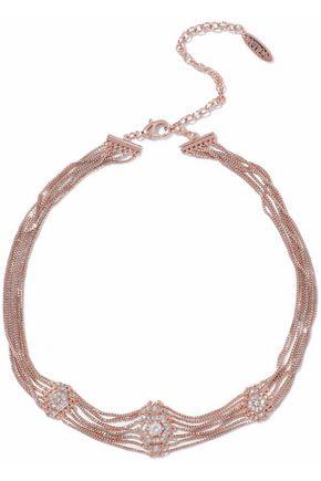LUV AJ Pave Kite rose gold-tone crystal choker