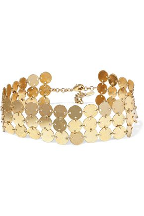 LUV AJ Triple Disco Fever gold-plated choker