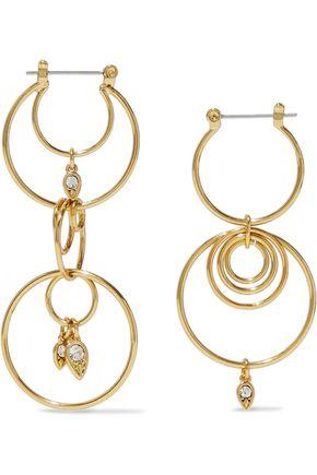 LUV AJ 14-karat gold crystal earrings