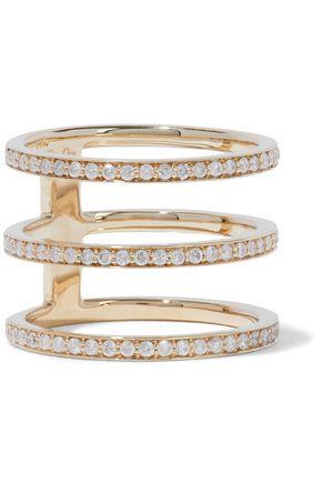 CARBON & HYDE Mikaela 14-karat gold diamond ring