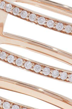 CARBON & HYDE Mikaela 14-karat rose gold diamond ring