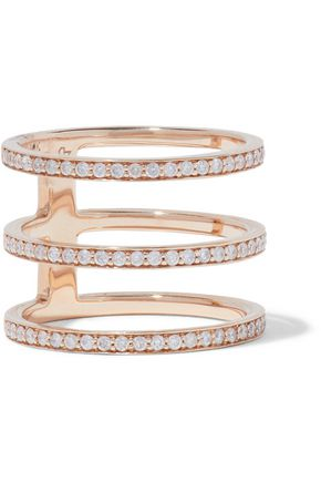 CARBON & HYDE Mikaela 14-karat rose gold diamond ring
