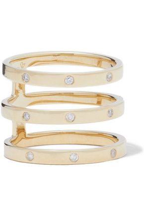 CARBON & HYDE Princess 14-karat gold diamond ring