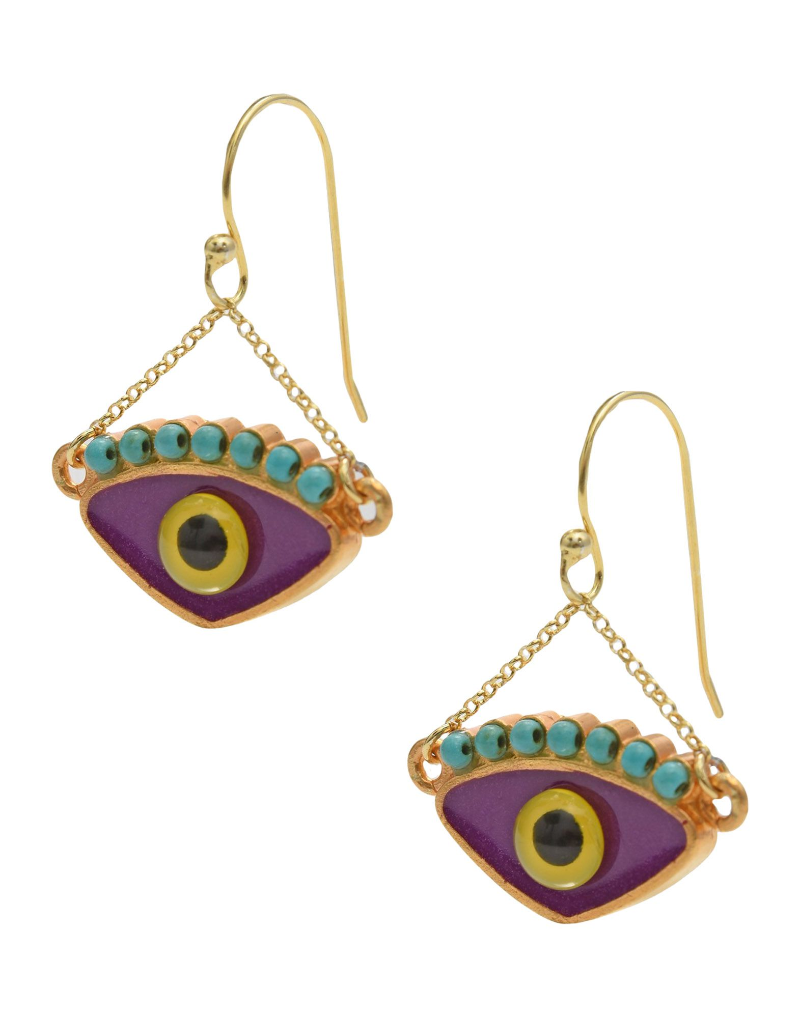 KATERINA PSOMA Earrings in Purple