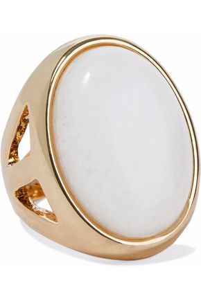KENNETH JAY LANE Gold-tone stone ring