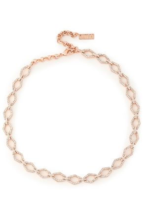 LUV AJ Rose gold-tone crystal choker