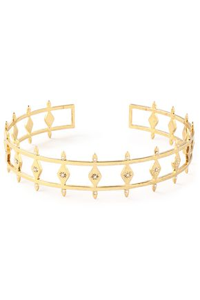 LUV AJ Gold-plated crystal choker