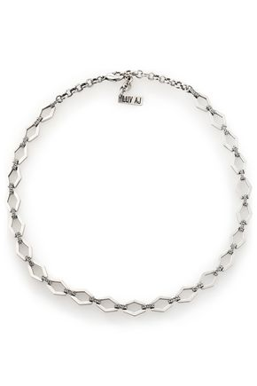LUV AJ Silver-plated crystal choker