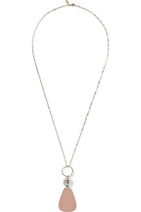 ELIZABETH AND JAMES Gold-tone, silver-tone and rose gold-tone necklace