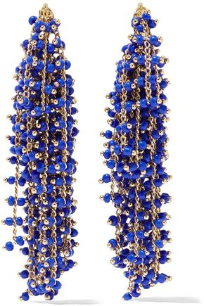 ELIZABETH AND JAMES Gold-tone beaded earrings
