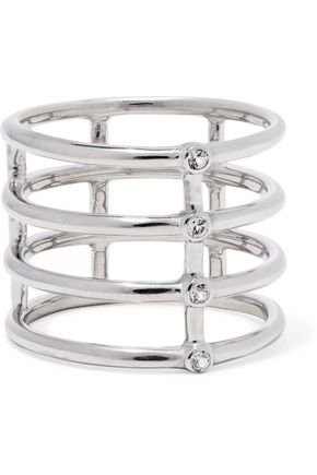Elizabeth And James Woman Silver-tone Chain Ring Silver Size 7 Elizabeth & James QZTSWS
