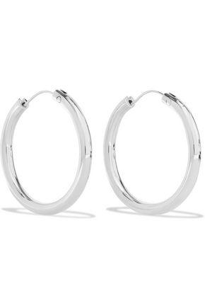 ELIZABETH AND JAMES Silver-tone hoop earrings