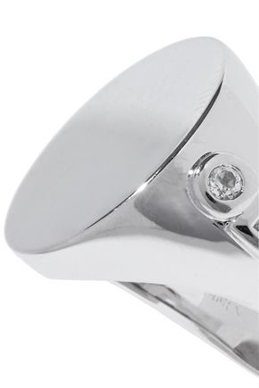 ELIZABETH AND JAMES Silver-tone crystal ring