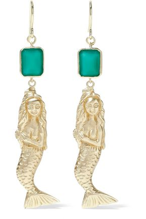 ELIZABETH AND JAMES Gold-tone stone earrings