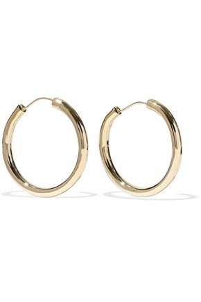 ELIZABETH AND JAMES Gold-tone hoop earrings