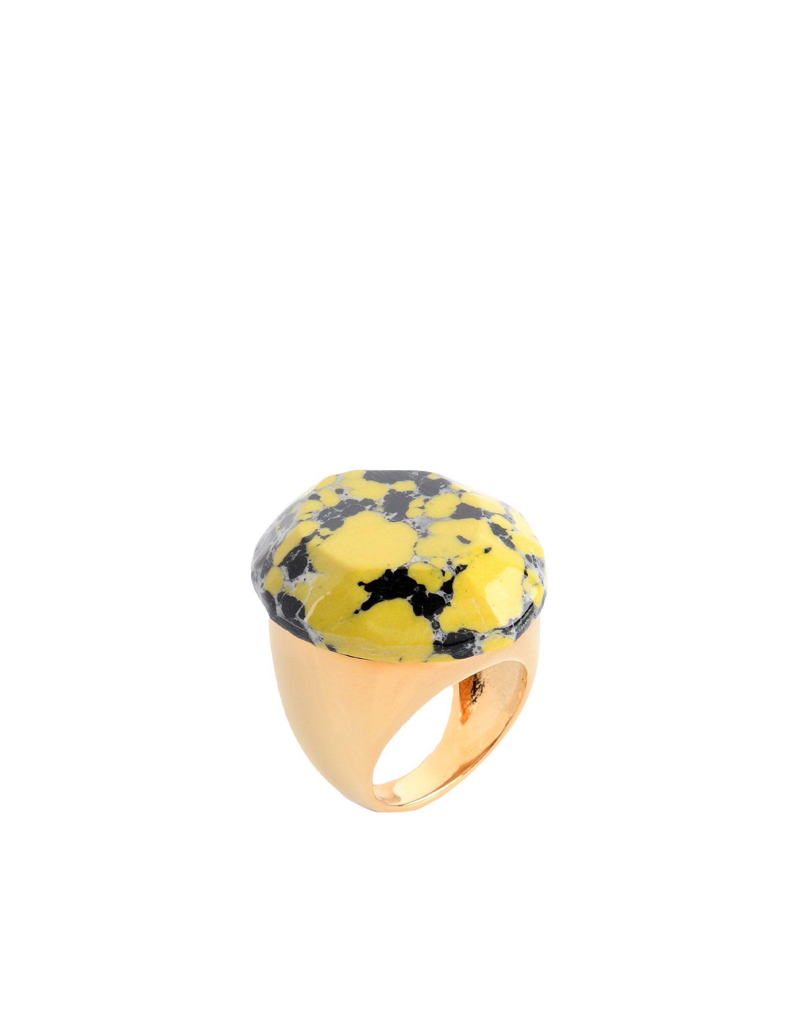 《送料無料》STELLA McCARTNEY レディース 指輪 イエロー L 真鍮/ブラス