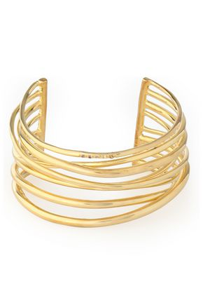ELIZABETH AND JAMES Gold-tone crystal cuff