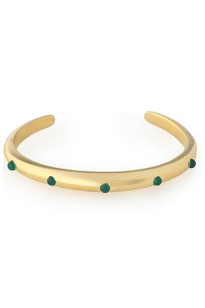 ELIZABETH AND JAMES Gold-tone stone cuff