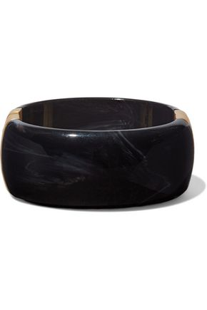 KENNETH JAY LANE Gold-tone resin bangle