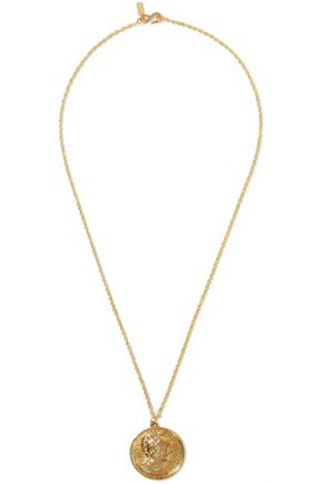 KENNETH JAY LANE Embossed gold-tone necklace