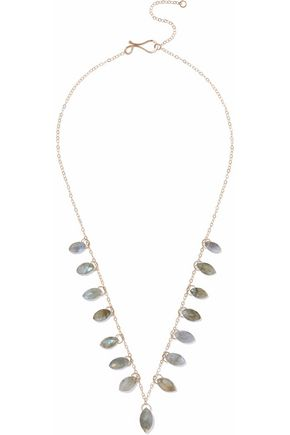 MELISSA JOY MANNING 14-karat gold labradorite necklace