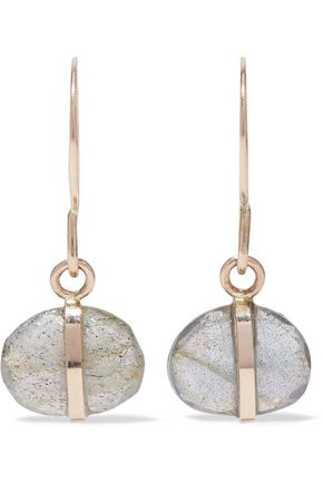 MELISSA JOY MANNING 14-karat gold labradorite earrings