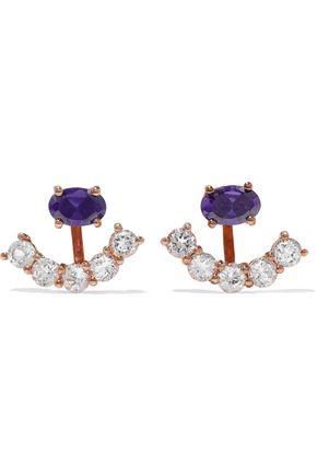 AAMAYA by PRIYANKA Rose gold-tone crystal earrings