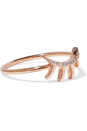 AAMAYA by PRIYANKA Lash rose gold-plated sterling silver crystal ring