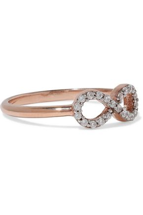 AAMAYA by PRIYANKA Infinity rose gold-plated sterling silver crystal ring