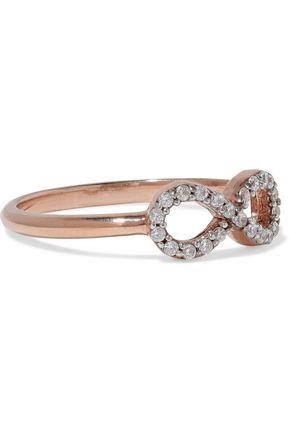 AAMAYA by PRIYANKA Infinity rose gold-plated sterling silver crystal ring