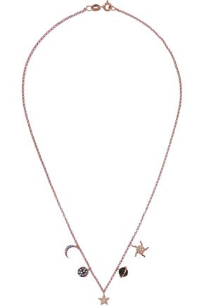 AAMAYA by PRIYANKA Universe rose gold plated sterling silver crystal necklace