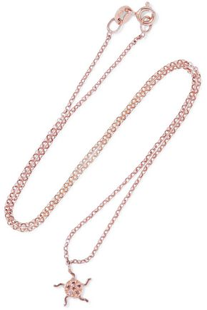 Aamaya By Priyanka Woman Sun Rose Gold-plated Sterling Silver Crystal Necklace Rose Gold Size -